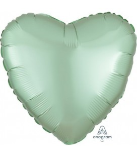 Pastel Mint Star Satin Luxe Foil Balloon