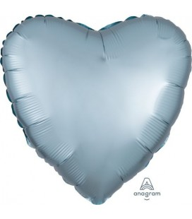 Pastel Blue Heart Satin Luxe Foil Balloon