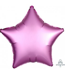 Flamingo Star Satin Luxe Foil Balloon