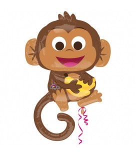 Happy Monkey Foil Balloon
