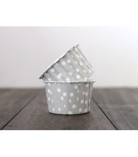 25 Silver Polka Dots Candy Cups