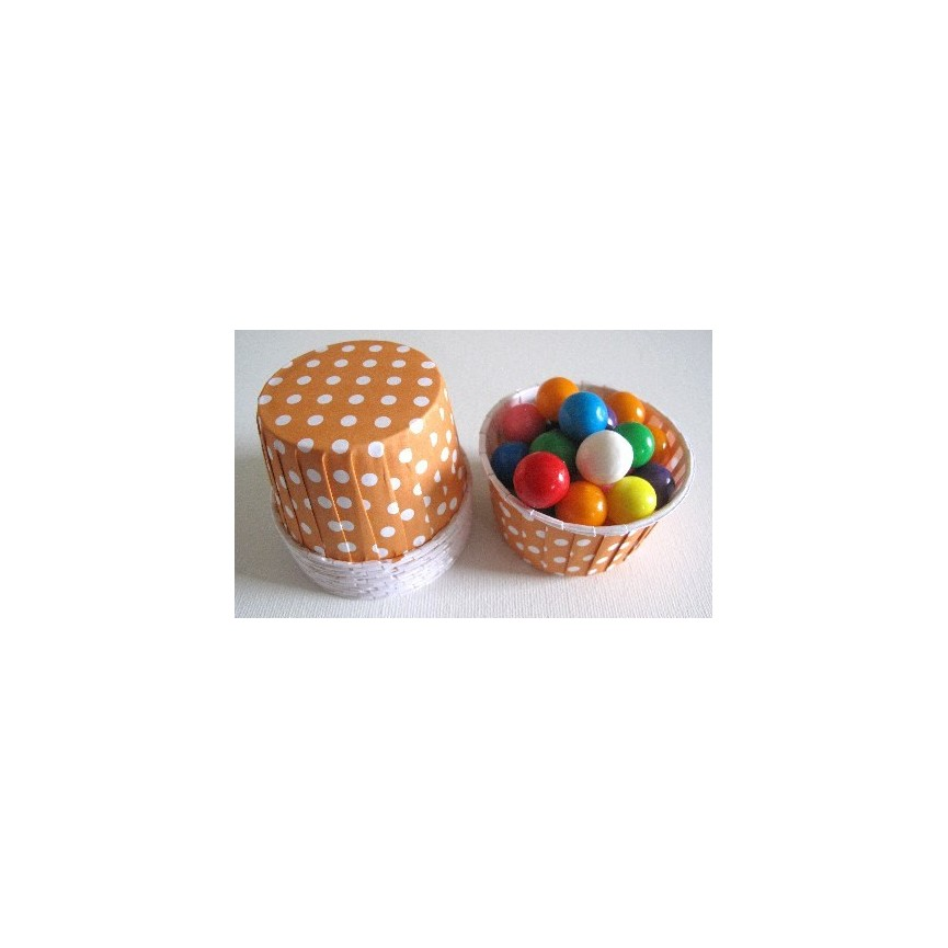 25 Candy Cups Orange