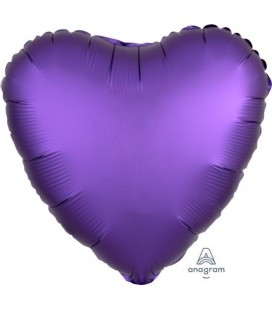 Purple Royal Coeur Satin Luxe Foil Balloon