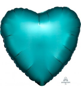Heart Jade Satin Luxe Foil Balloon