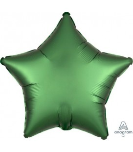 Star Emerald Green Satin Luxe Foil Balloon