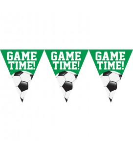 Pennant Banner Football Game Time