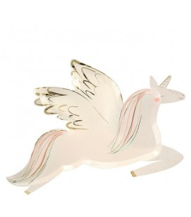 Winged Unicorn Plates Meri Meri
