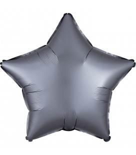 Graphite Star Satin Luxe Foil Balloon