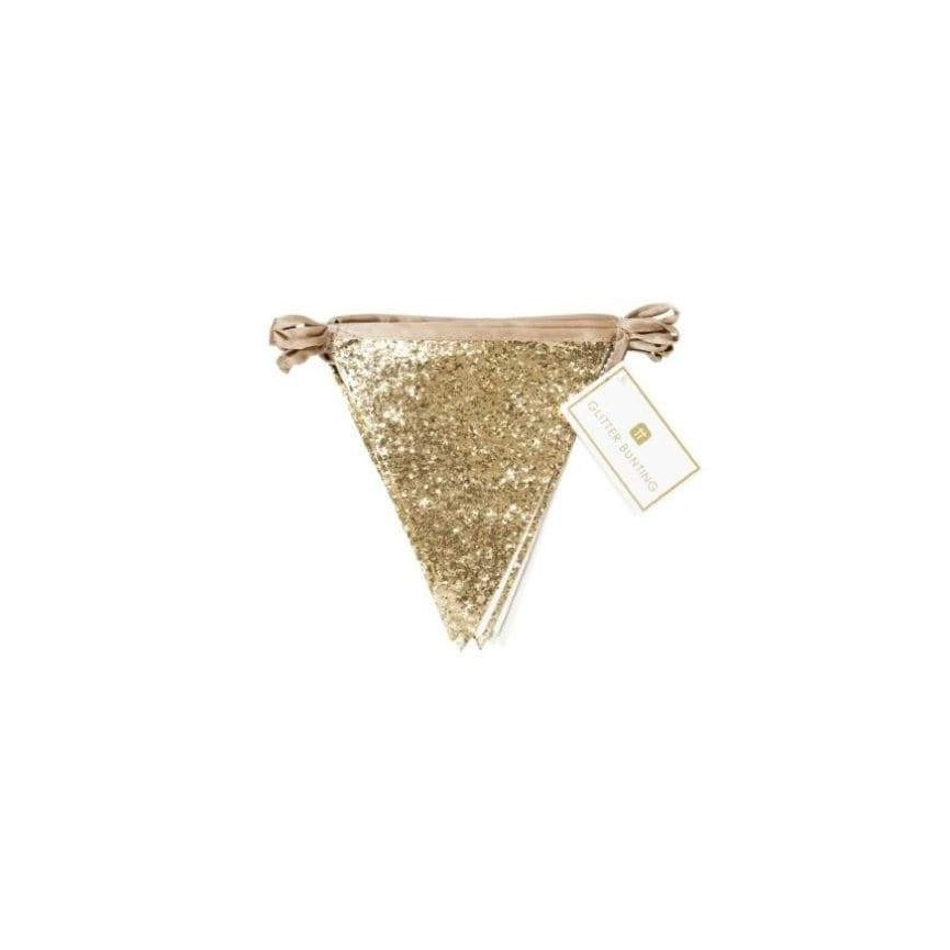 Luxe Gold Glitter Bunting