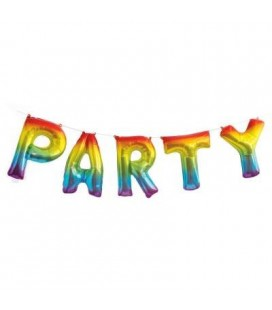 Rainbow Party Mylar Balloon