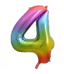 Rainbow Foil Ballon Number 4