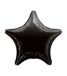 Black Star Mylar Balloon