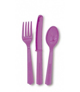 18 Pretty Purple Cutlery