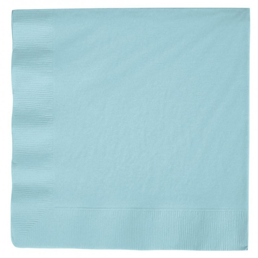 20 Baby Blue Lunch Napkins