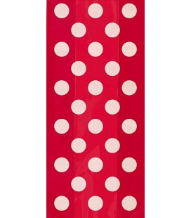 20 Red Polka Dots Cello Bags