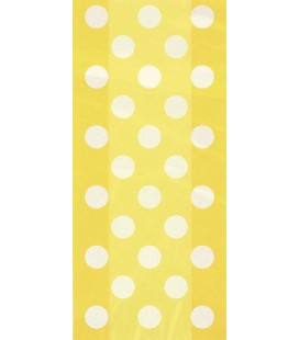 20 Yellow Polka Dots Cello Bags
