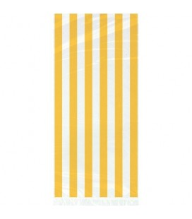 20 Yellow Stripe Cello Bags