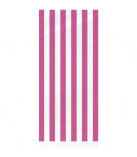 20 Magenta Stripe Cello Bags