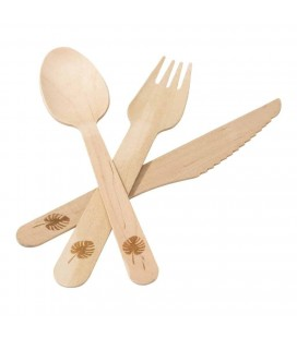 18 Wooden Cutlery Eco-Friendly