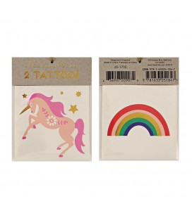 Unicorn & Rainbow Temporary Tattoos