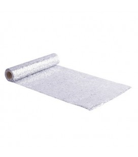 Dainty Silver Glitter Table Runner