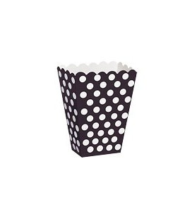 8 Black Polka Dots Treat Boxes