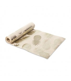 Champagne Pineapple Flocking Table Runner