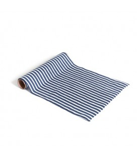 Blue & White Striped Table Runner