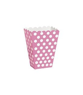 8 Magenta Polka Dots Treat Boxes
