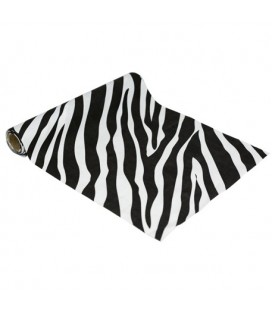 Zebra Suede Table Runner