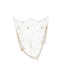 Fish Net with Seashells