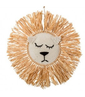 Lion Raffia Wall Decoration
