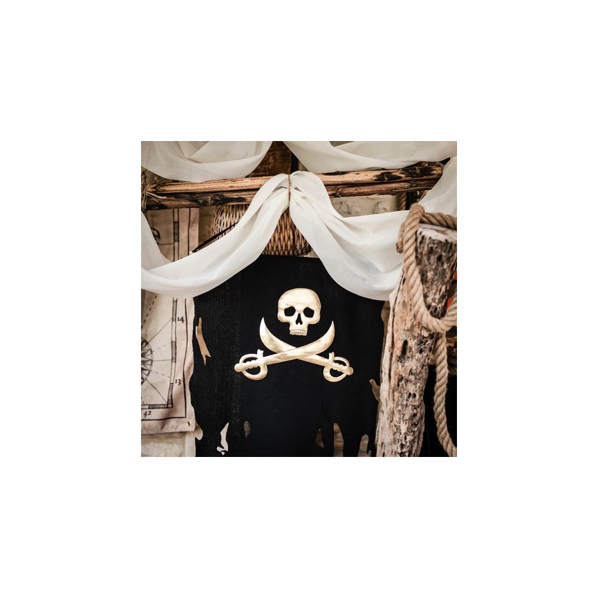 Gold & Black Pirate Flag