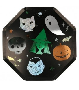 Large Plates with Halloween Characters