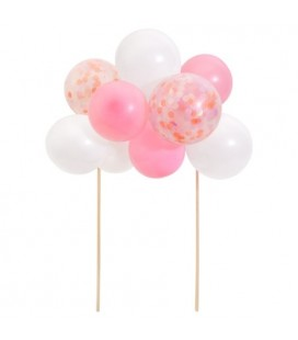 Cake Topper Kit with Arch of Pink Balloons