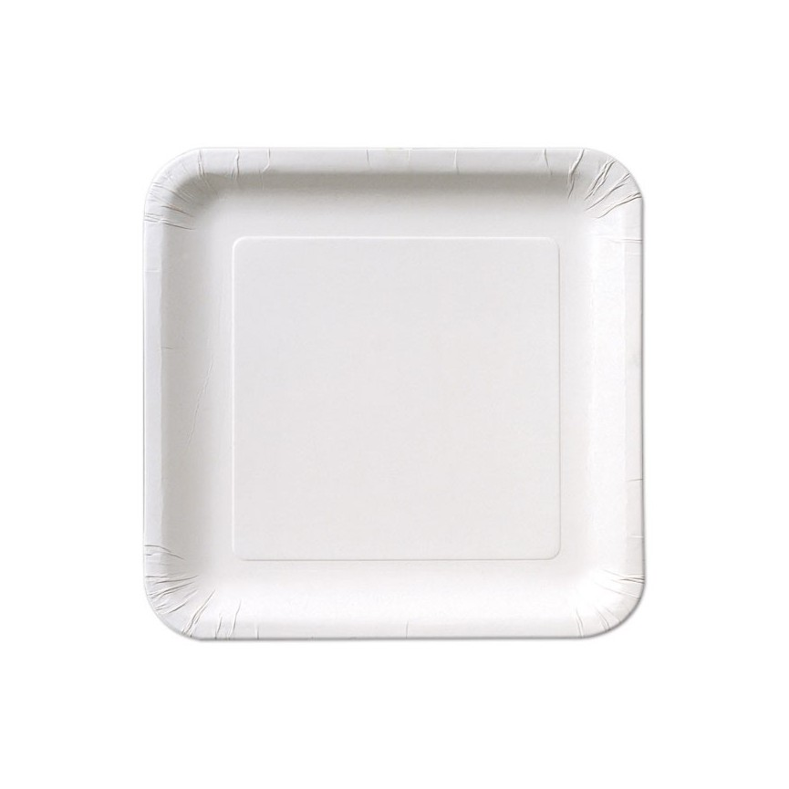 14 Grandes Assiettes Blanches