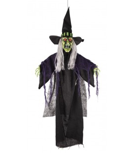 Animated Hanging Witch
