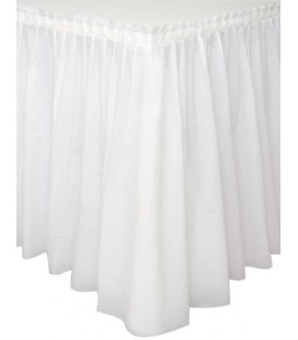 White Tableskirt