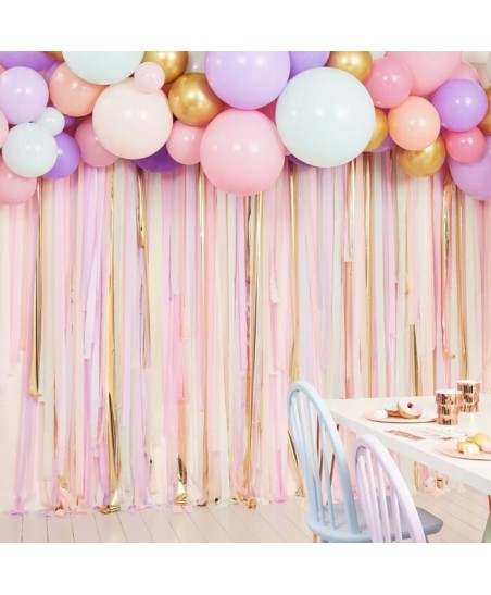 Pastel Streamers and Balloons Backdrop