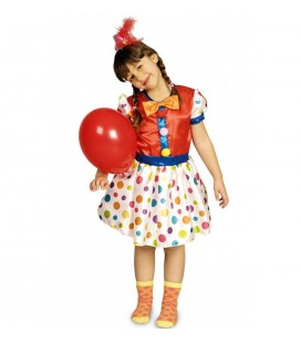 Polka Dot Clown Dress Costume