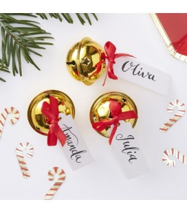 Gold Bell Place Card Holder