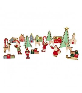 Festive Village Wooden Advent Calendar - Meri Meri