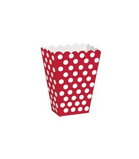 8 Red Polka Dots Treat Boxes