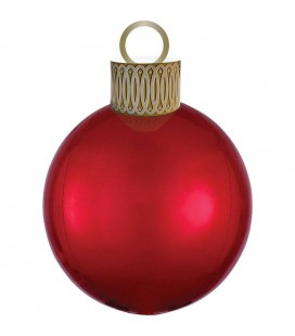 Red Orbz Christmas Ornament Foil Balloon