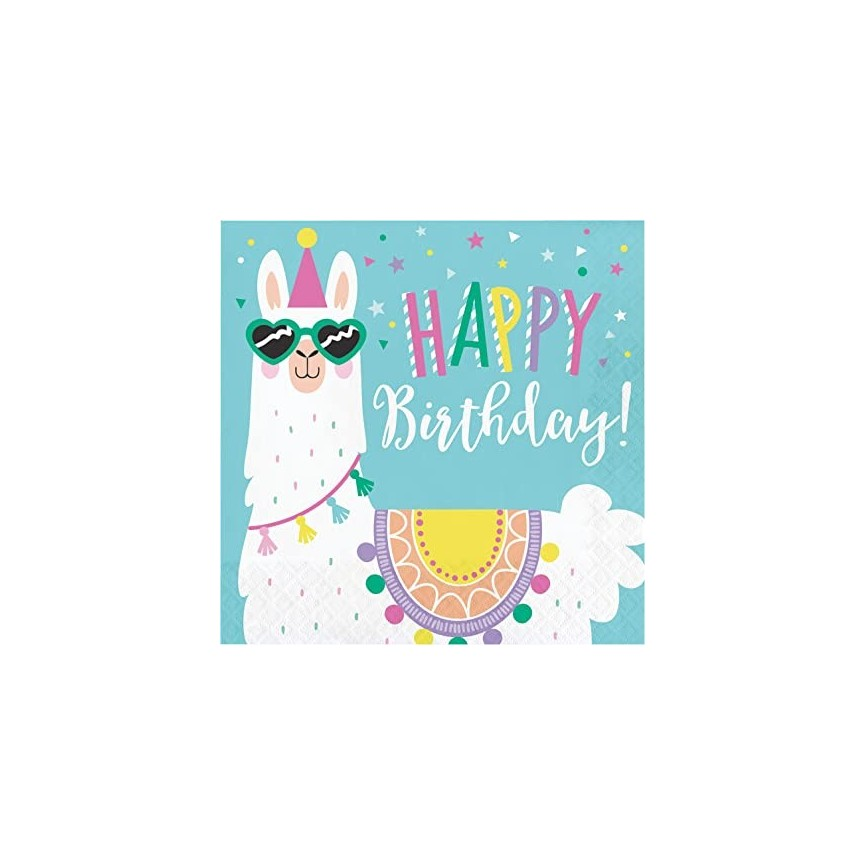 Llama Party Napkins Happy Birthday