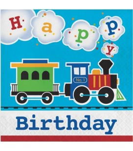 Serviettes Petit Train Happy Birthday