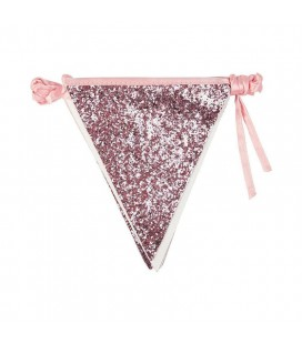 Luxe Rosa Glitter Bunting
