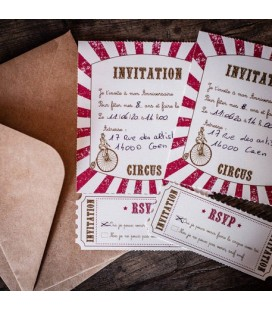Invitations Circus Straws