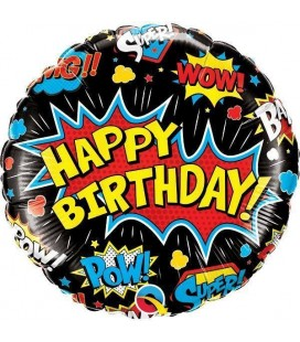 Ballon Mylar Super Hero Birthday