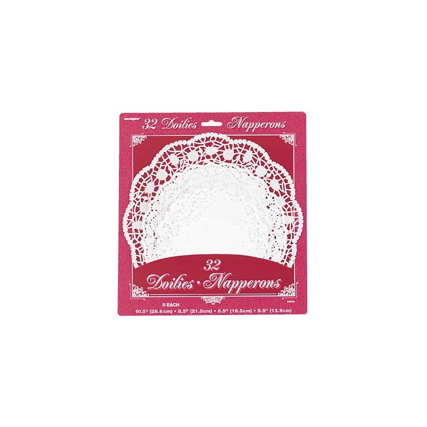 32 Assorted Doilies
